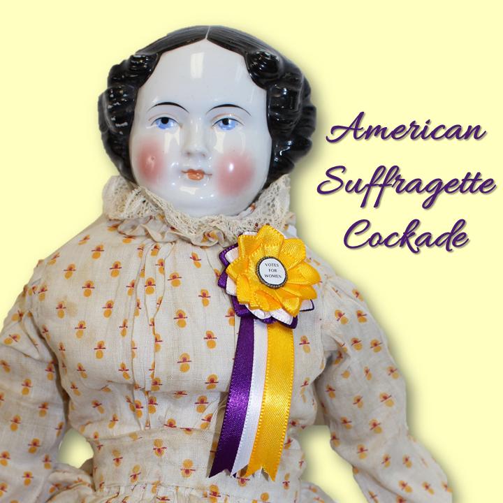 American Suffragette Doll Cockade