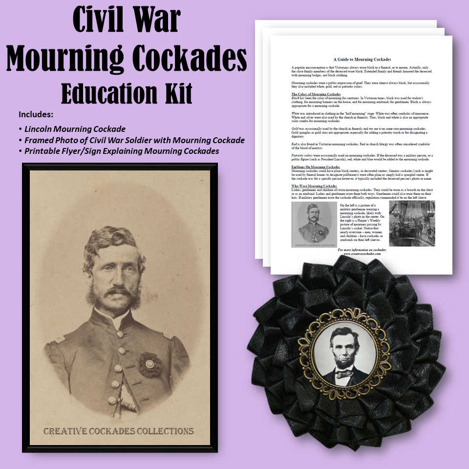 Civil War Mourning Cockades - Education Kit