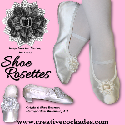 White Silk Shoe Rosettes