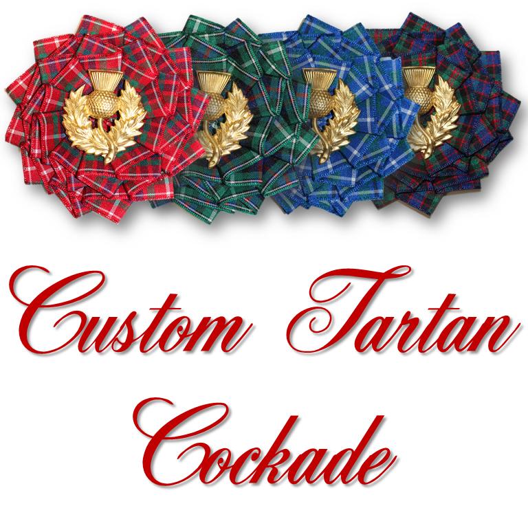 CUSTOM Tartan Cockade - Available in 4 weeks