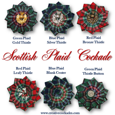 Scottish Plaid Cockade