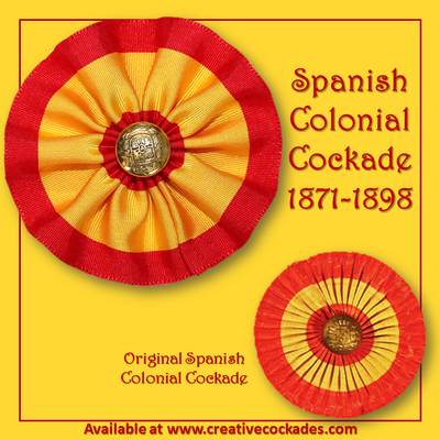 Spanish Colonial Cockade 1871-1898