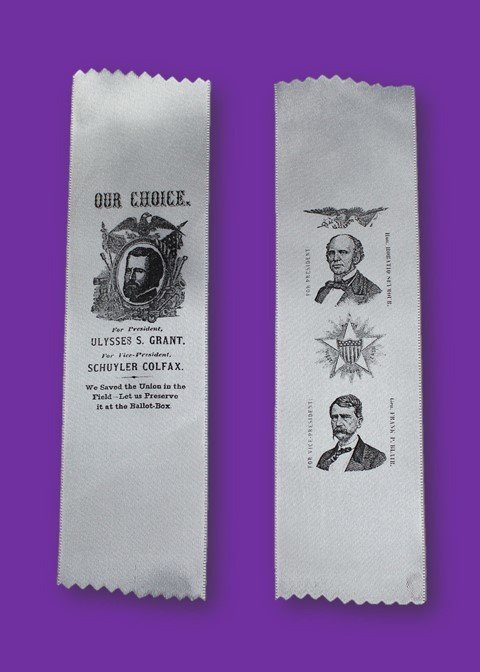 1868 Campaign Ribbon - Grant or Seymour