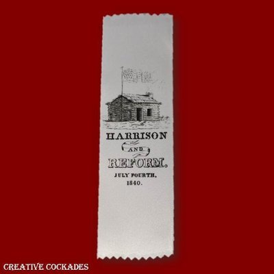 1840 William Henry Harrison Ribbon