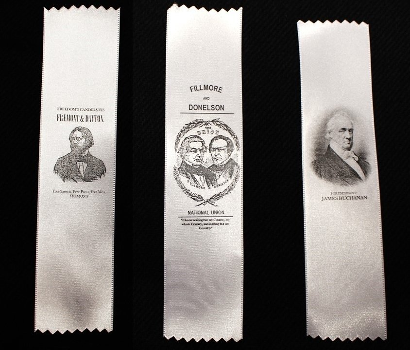 1856 Campaign Ribbon - Buchanan, Fremont or Fillmore