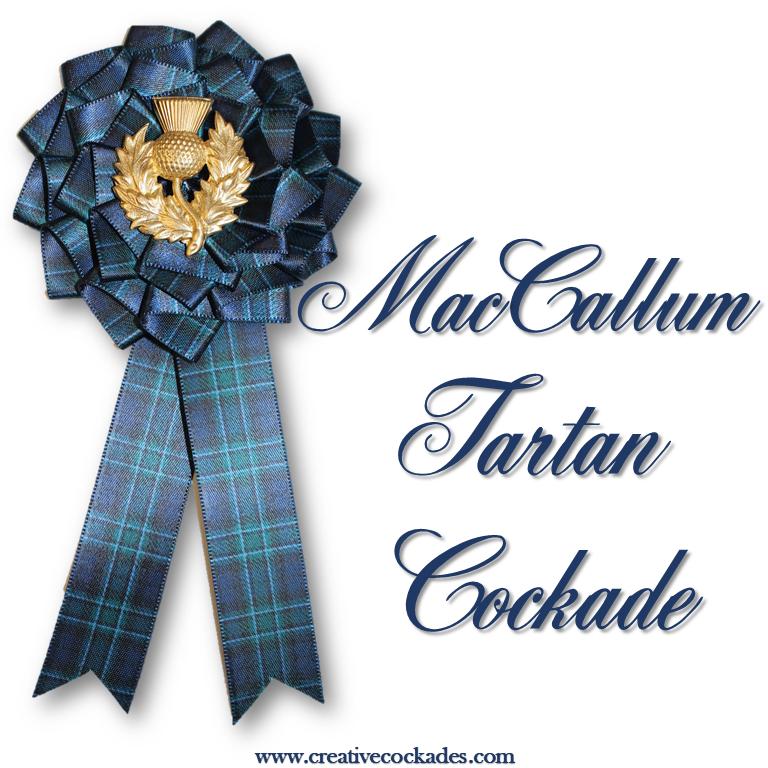MacCallum Tartan Cockade