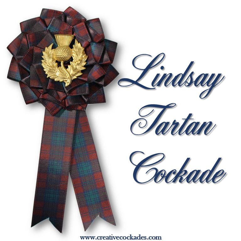 Lindsay Tartan Cockade