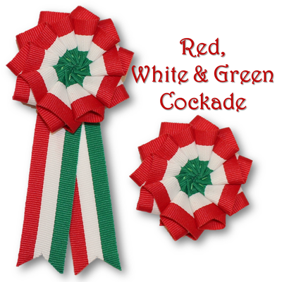 Red, White & Green Cockade