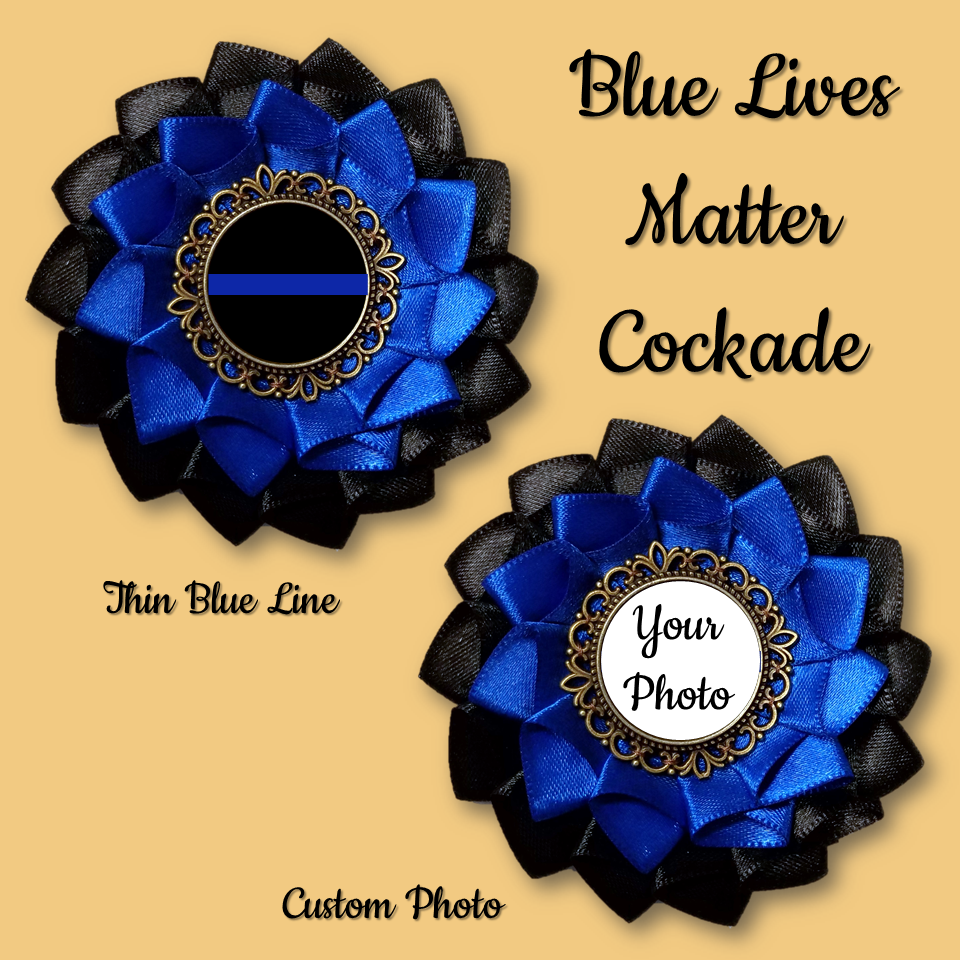 Blue Lives Matter Cockade