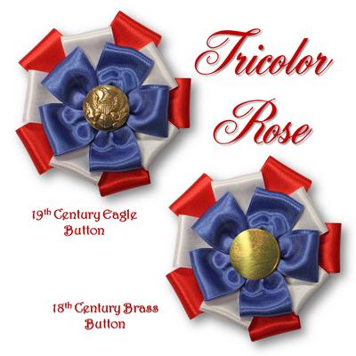Tricolor Rose Cockade