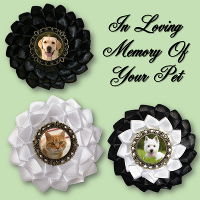 Custom Pet Mourning Cockade