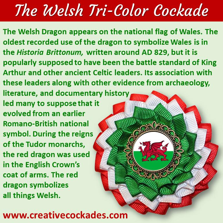 Tricolor Welsh Cockade