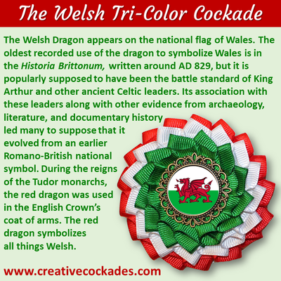 Tricolor Welsh Cockade