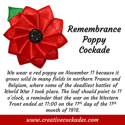 Remembrance Poppy Cockade