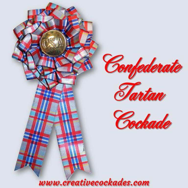 Confederate Tartan Cockade