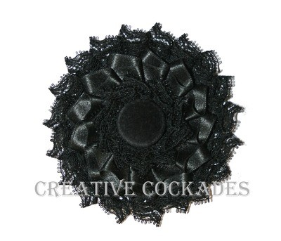 Silk and Lace Mourning Cockade