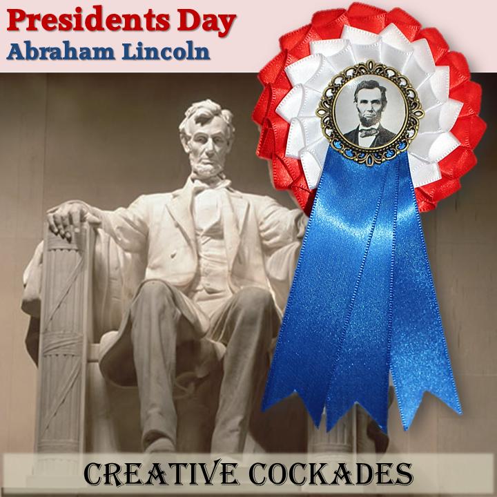 Abraham Lincoln Patriotic Cockade