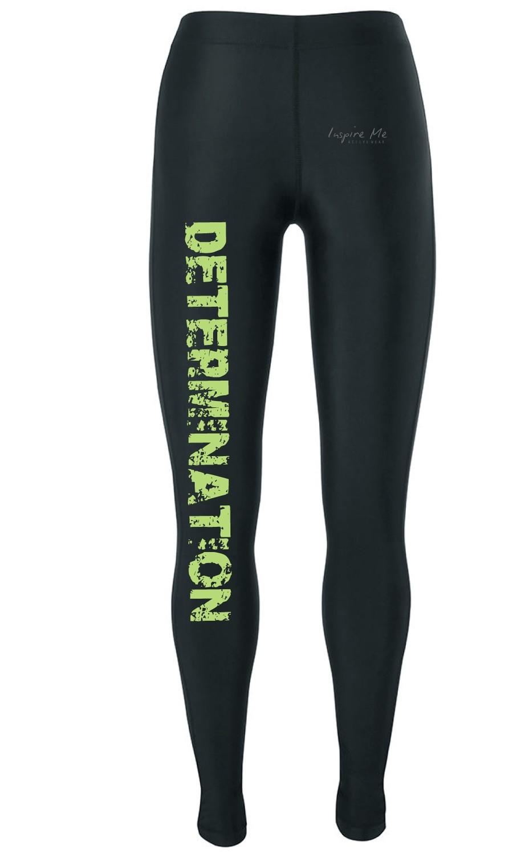 """Determination"" Tights - Ladies Fitness / Yoga Tights"