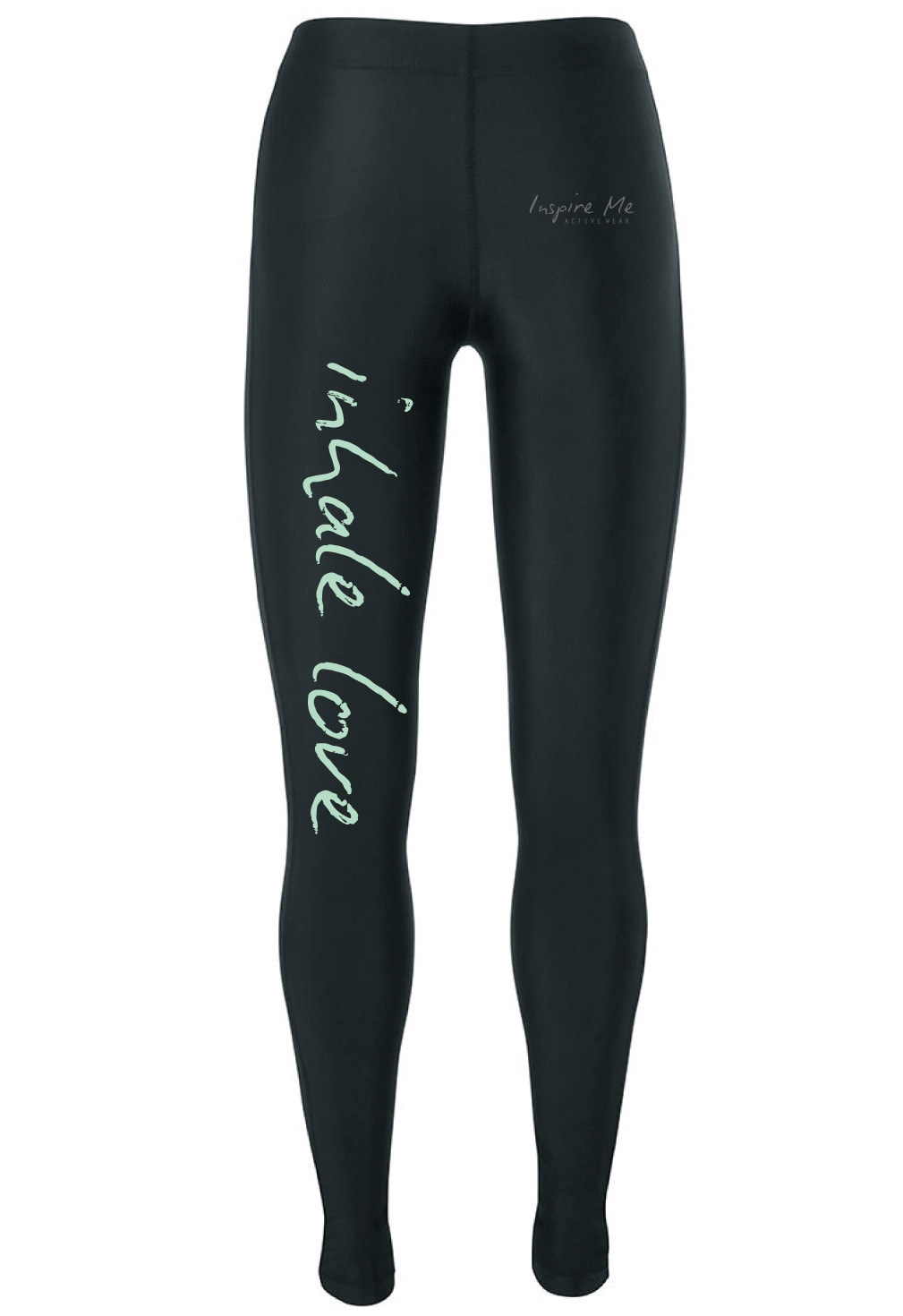 """Inhale Love"" Tights - Ladies Fitness / Yoga Tights"