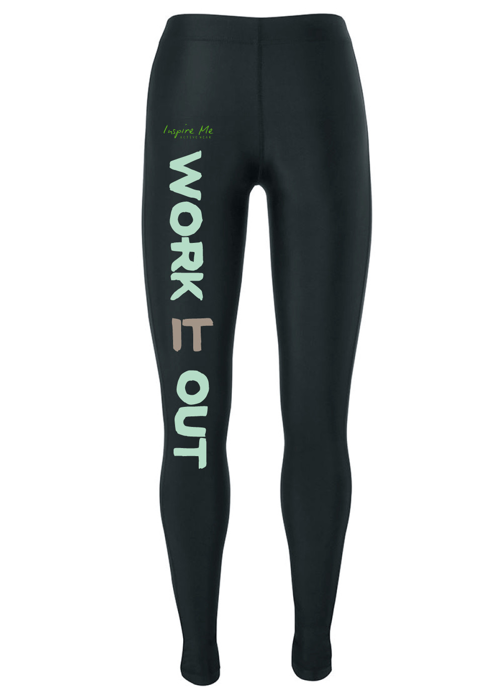"""Work It Out"" Tights - Ladies Fitness / Yoga Tights"