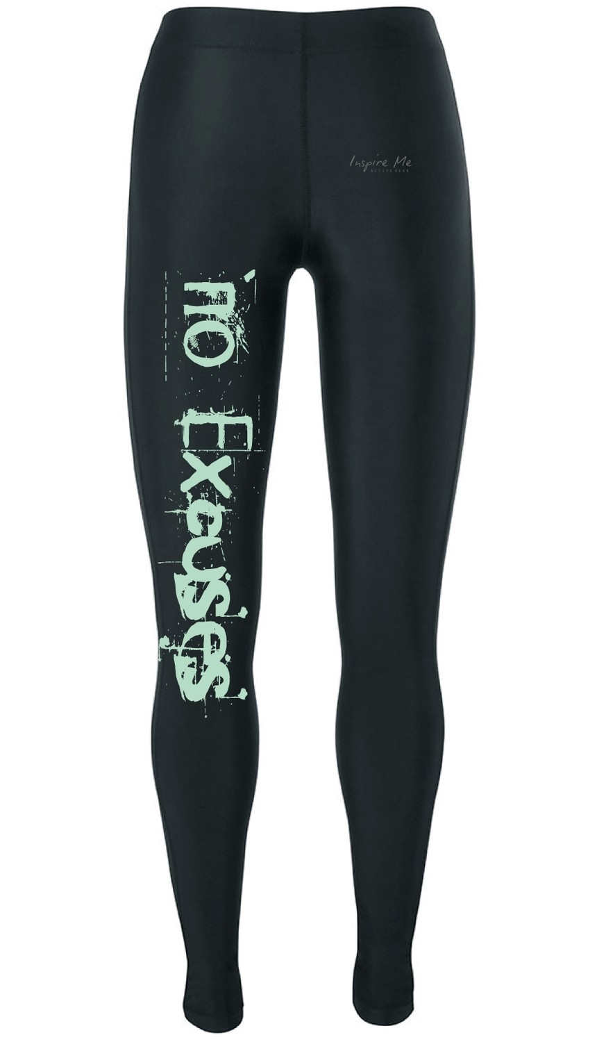 """No Excuses"" Tights - Ladies Fitness / Yoga Tights"