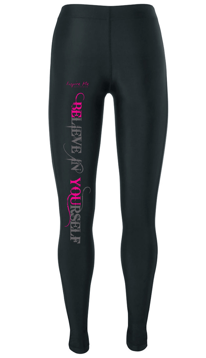 """""""Believe In Yourself"""" Tights - Ladies Fitness / Yoga Tights"""