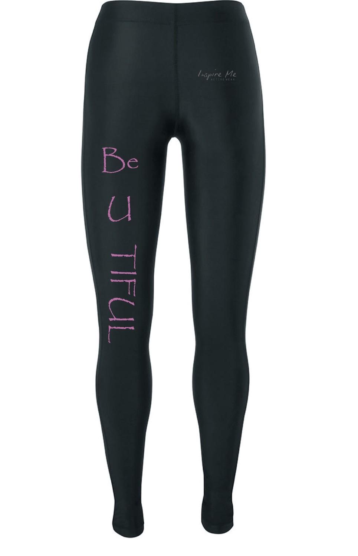 """""""Be U Tiful"""" Tights - Ladies Fitness / Yoga Tights"""