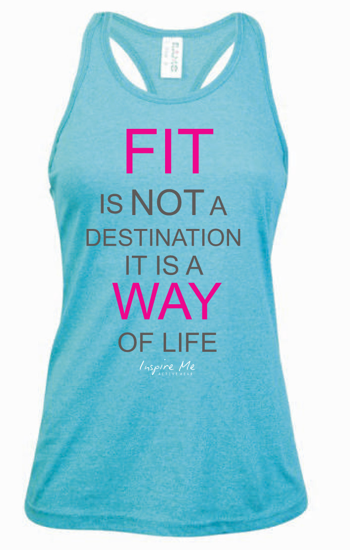 """Fit Is Not A Destination"" Singlet - Ladies Greatness Singlet"