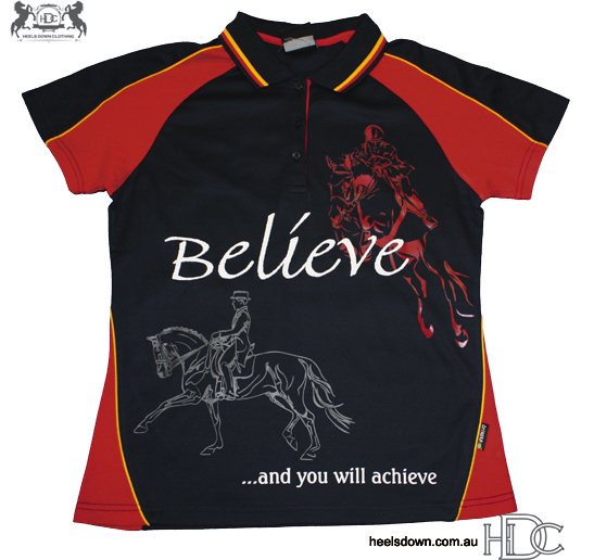 """""""Believe"""" Polo - Ladies CoolDri"""