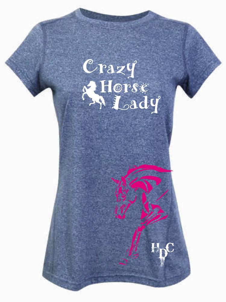 """Crazy Horse Lady"" Tee - Ladies Greatness Tee"