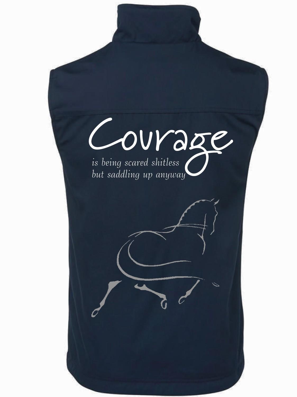 """""""Courage"""" 2 Tone Vest - Unisex"""