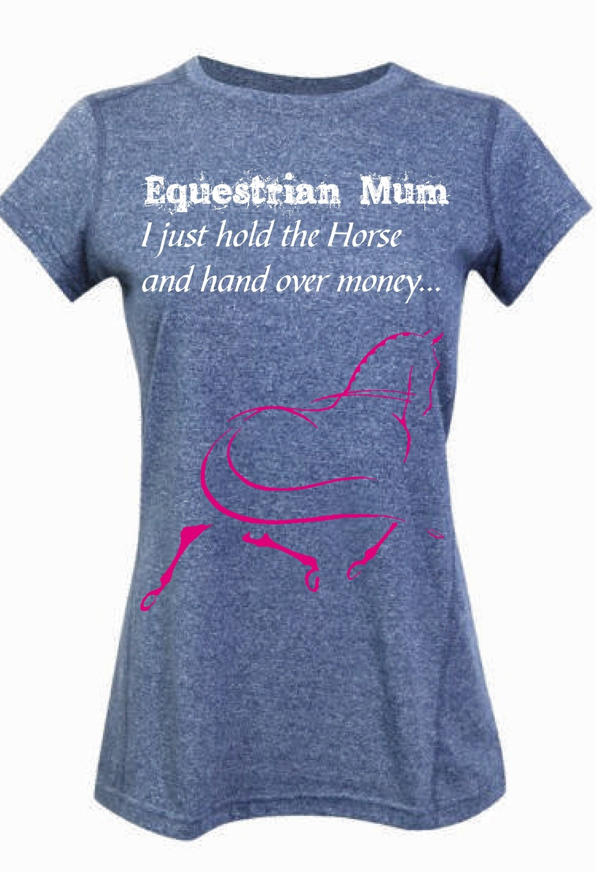 """""""Equestrian Mum"""" Tee - Ladies Greatness Tee"""