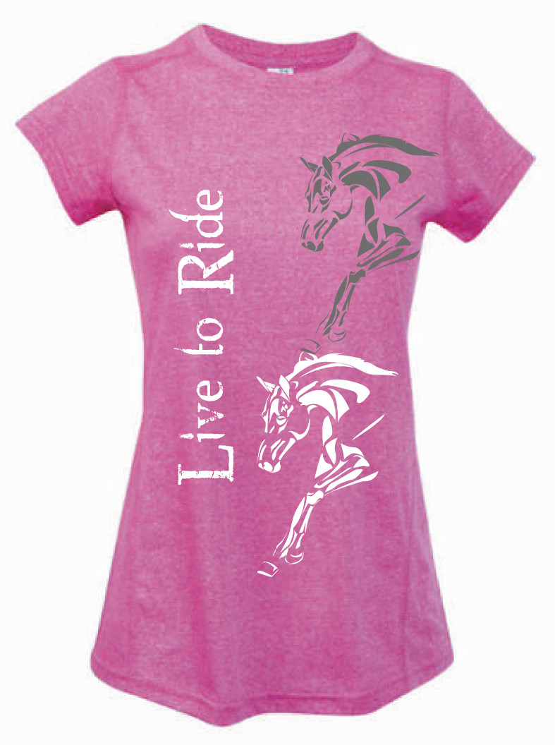 """Live To Ride"" Tee - Ladies Greatness Tee"