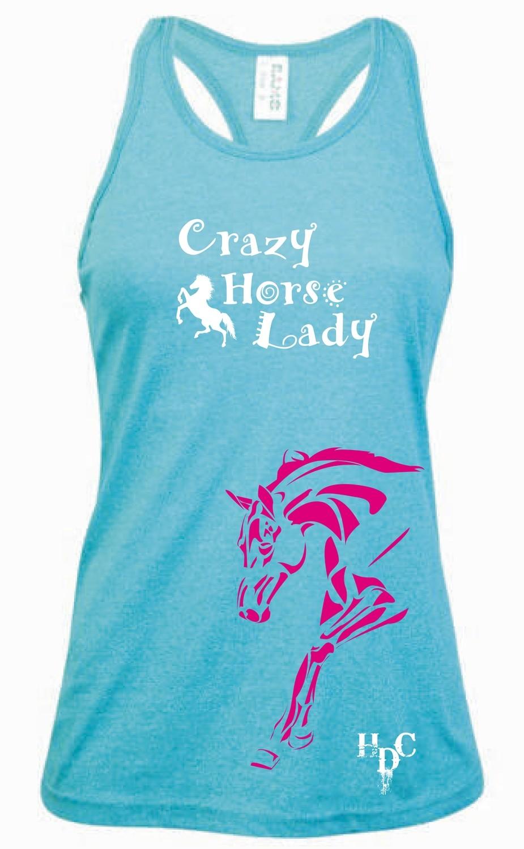 """Crazy Horse Lady"" Singlet - Ladies Greatness Singlet"