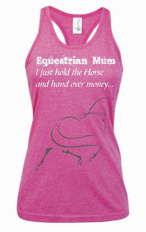 """""""Equestrian Mum"""" Singlet - Ladies Greatness Singlet"""