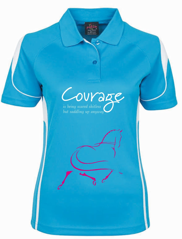 """Courage"" Polo - Ladies CoolDri"