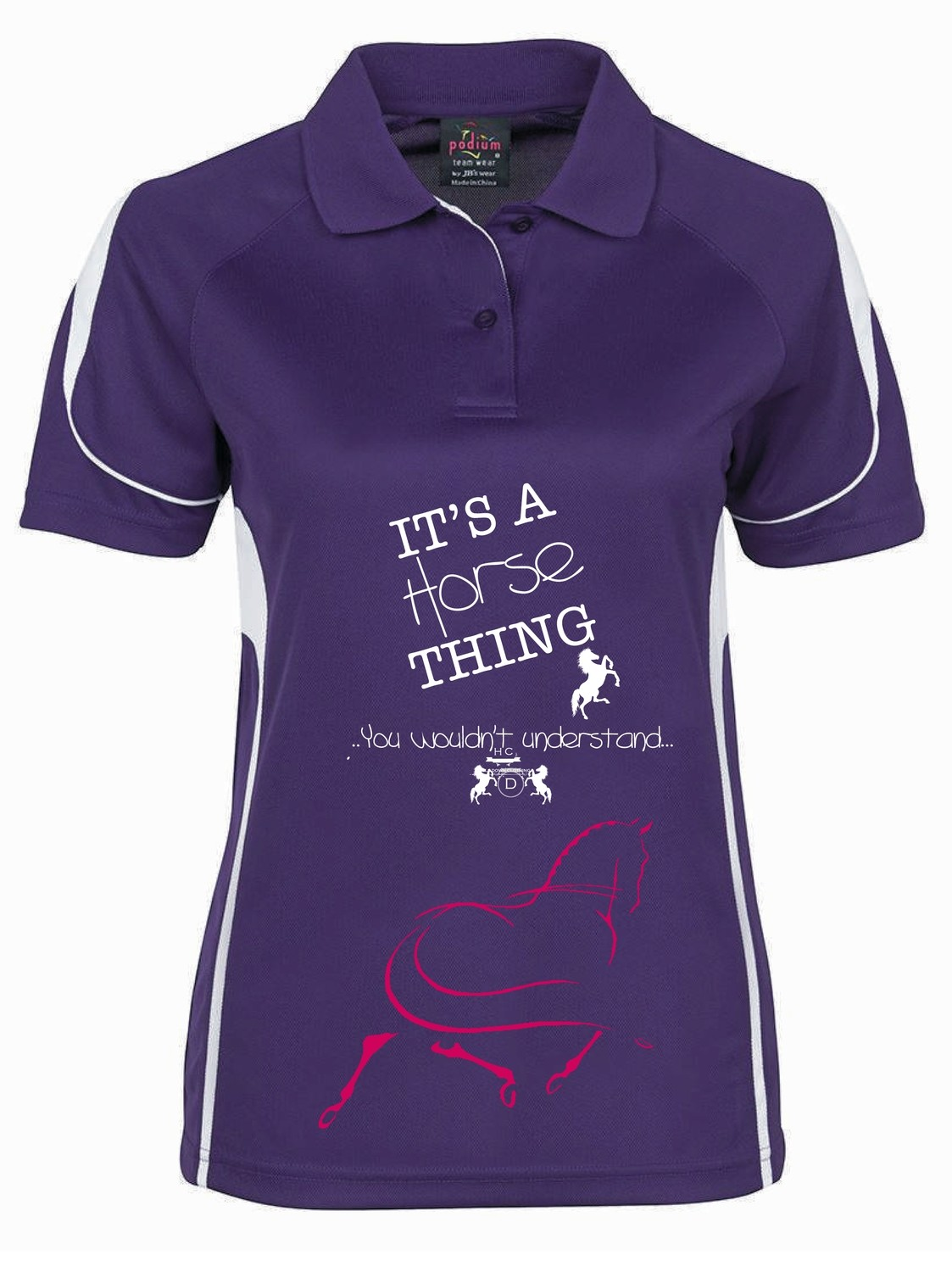 """It's a Horse Thing"" Polo - Ladies CoolDri"