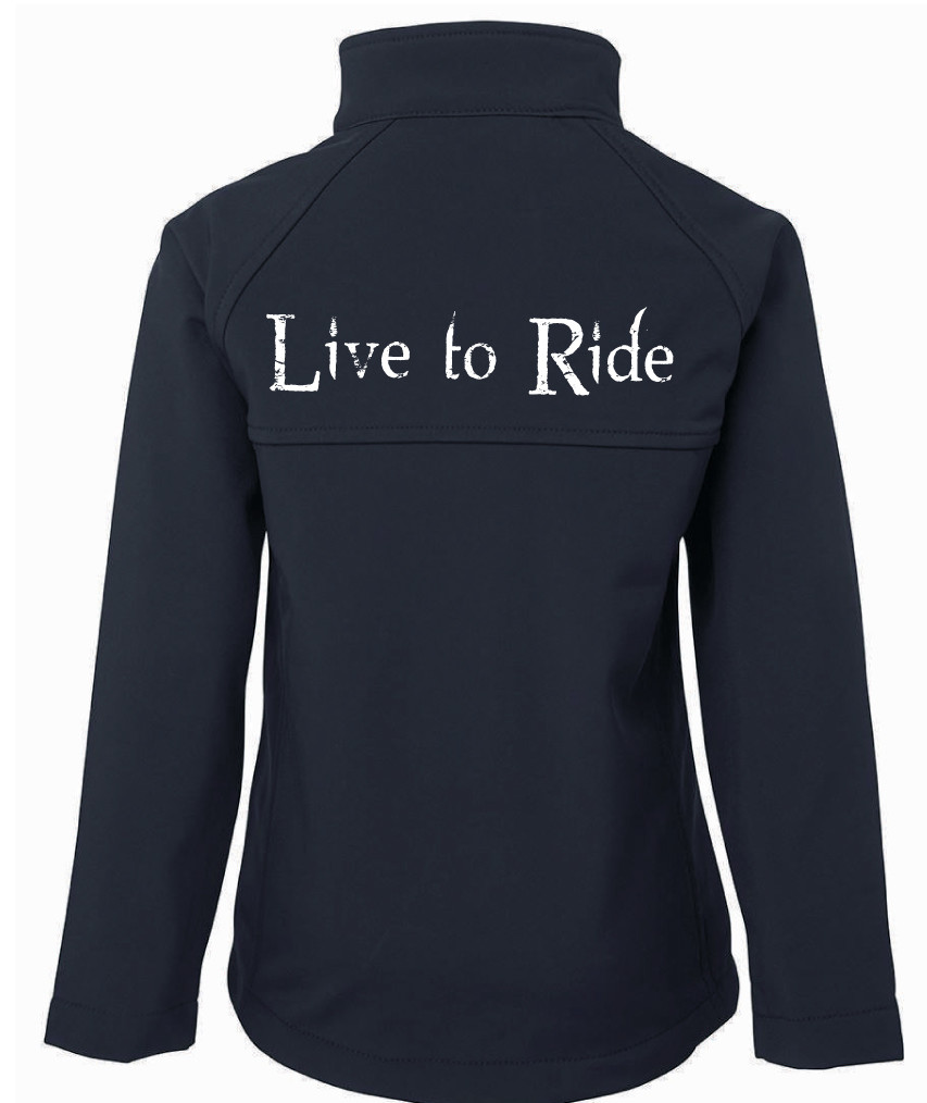 """""""Live To Ride"""" Jacket - Ladies Soft Shell Jacket"""