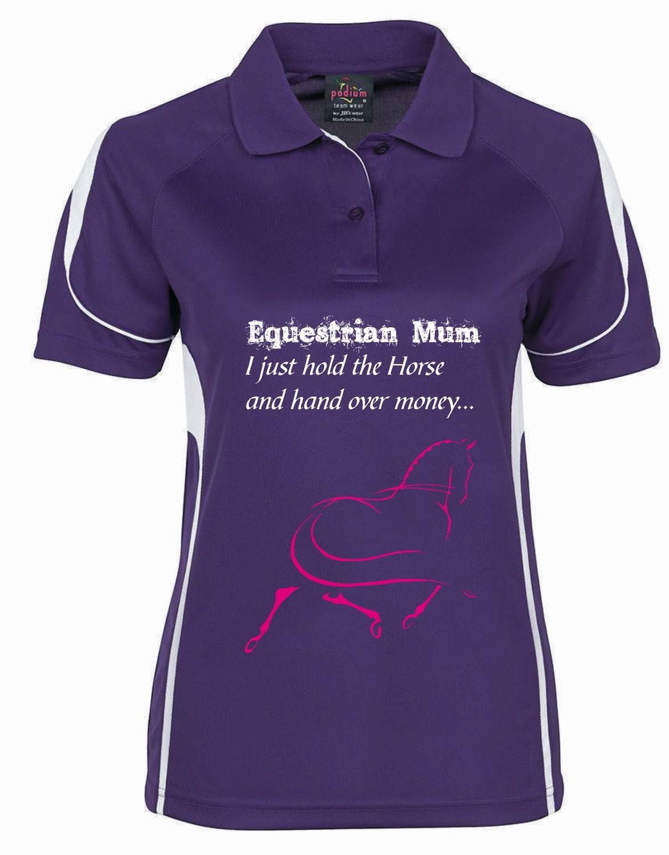 """""""Equestrian Mum"""" Polo - Ladies CoolDri"""