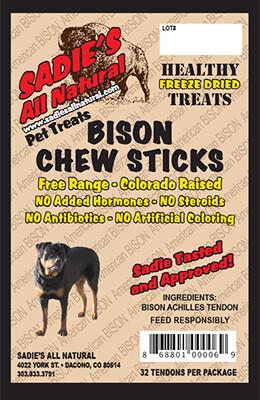 BISON CHEW STICKS  (32PCS.)