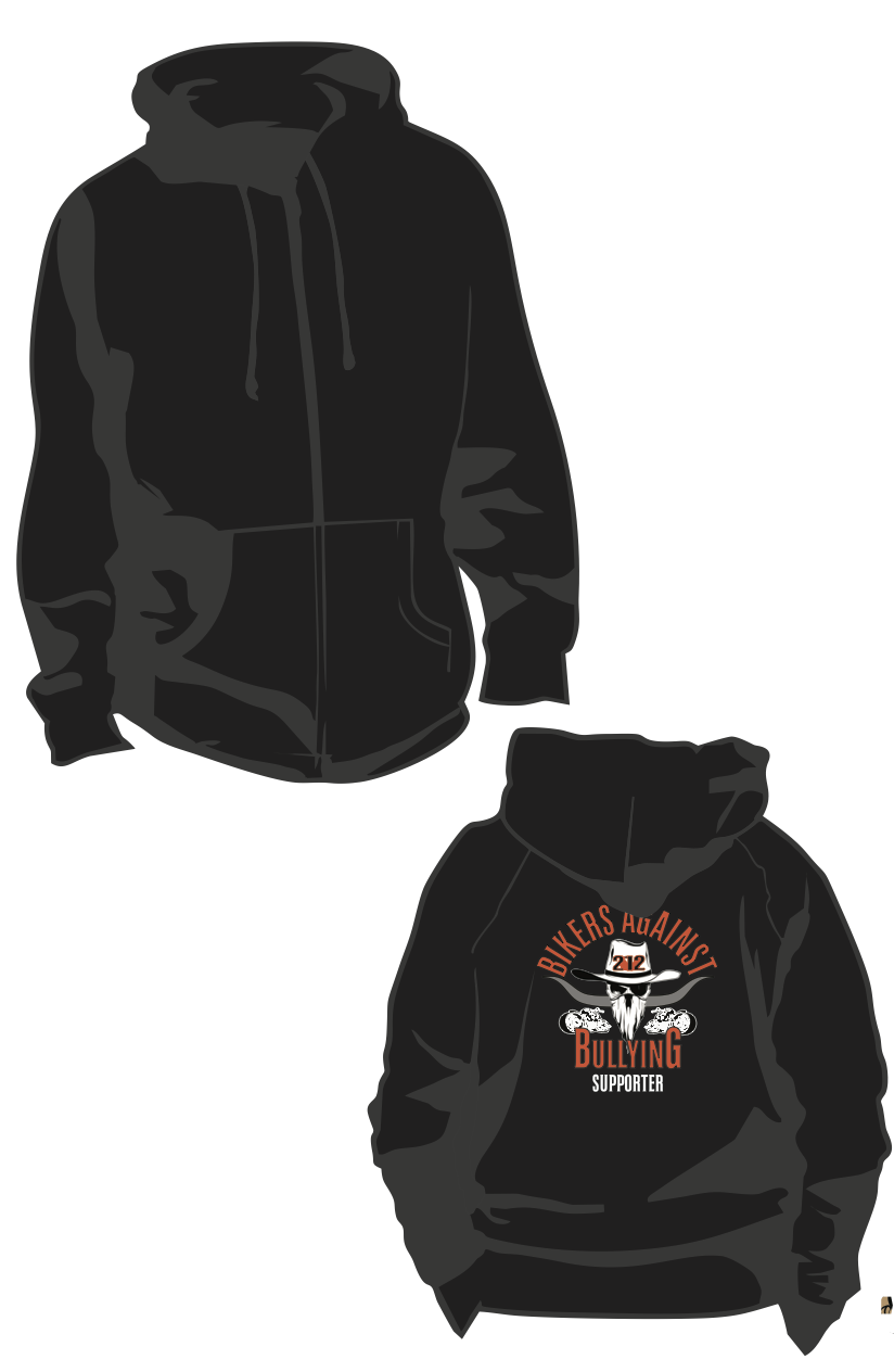 Bikers Against Bullying/212 Hoodie 004