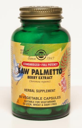 Solgar, Saw Palmetto Berry Extract, 60 Veggie Caps