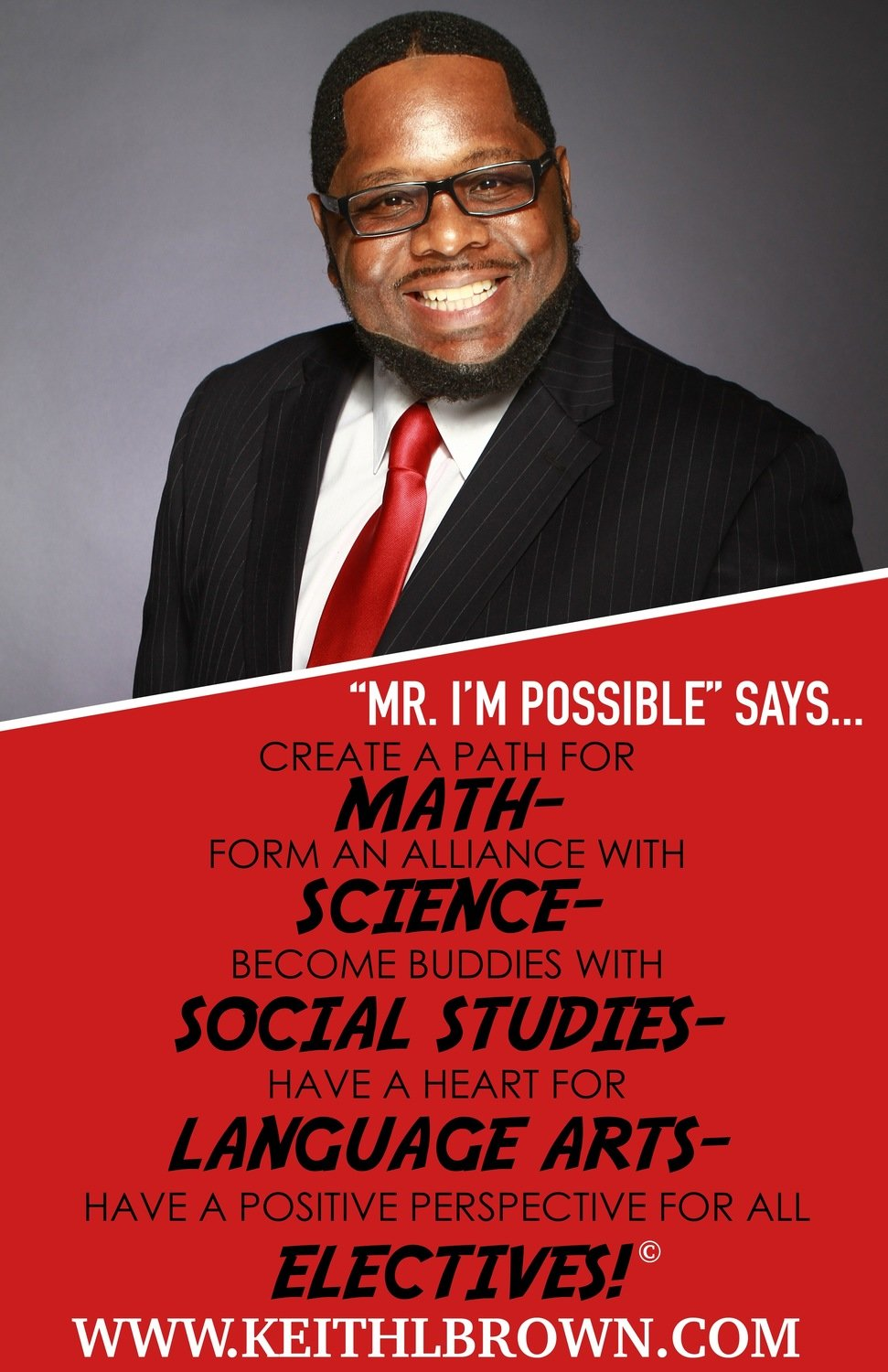 Keith L. Brown Education Poster (Quantities beginning at 10)