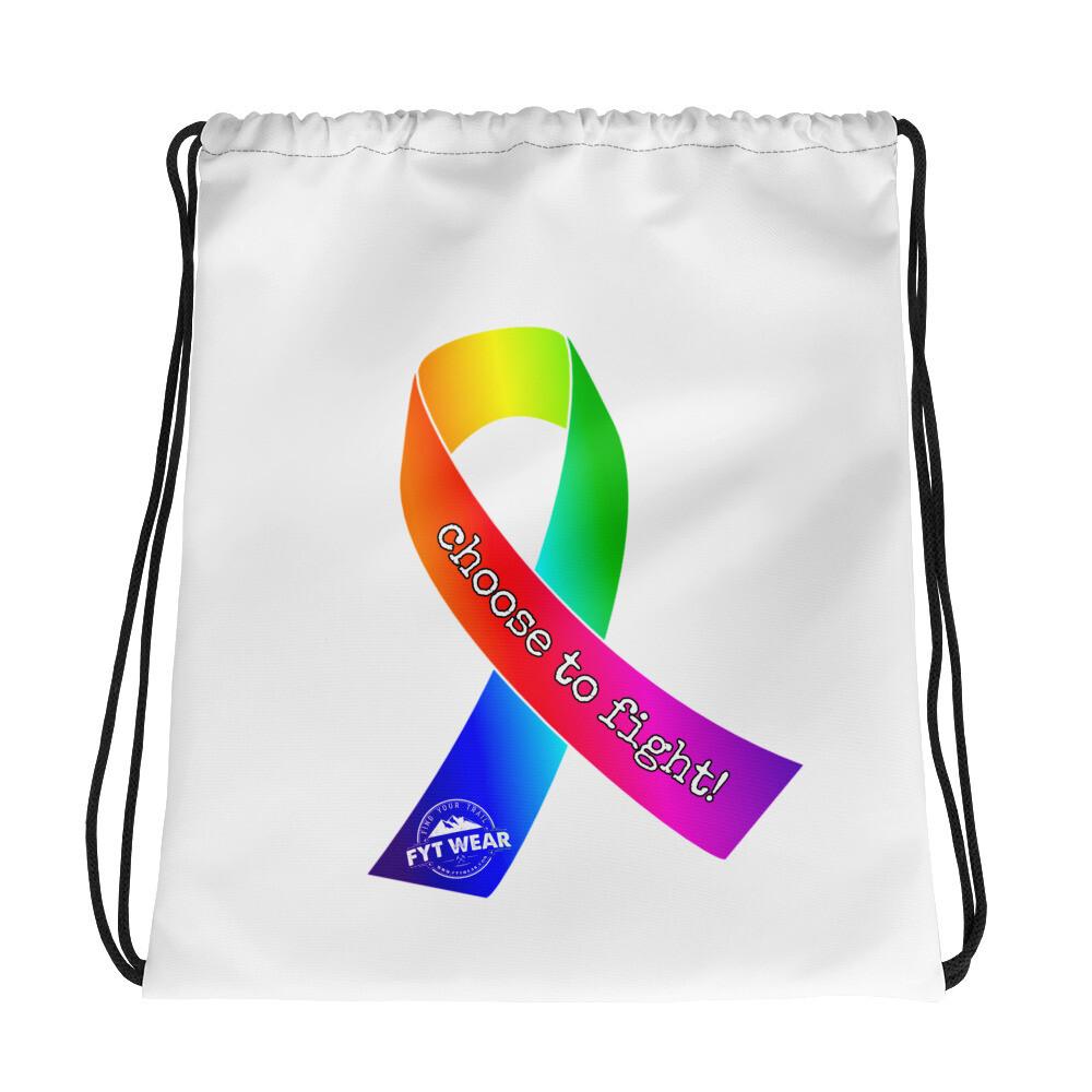 Awareness Drawstring bag
