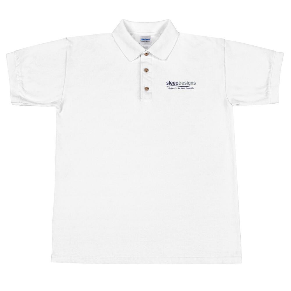 Sleep Designs Embroidered Polo Shirt