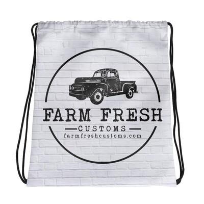 Farm Fresh Drawstring bag