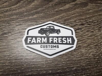 Farm Fresh printed decal 2x3