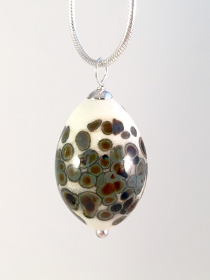 House sparrow egg necklace