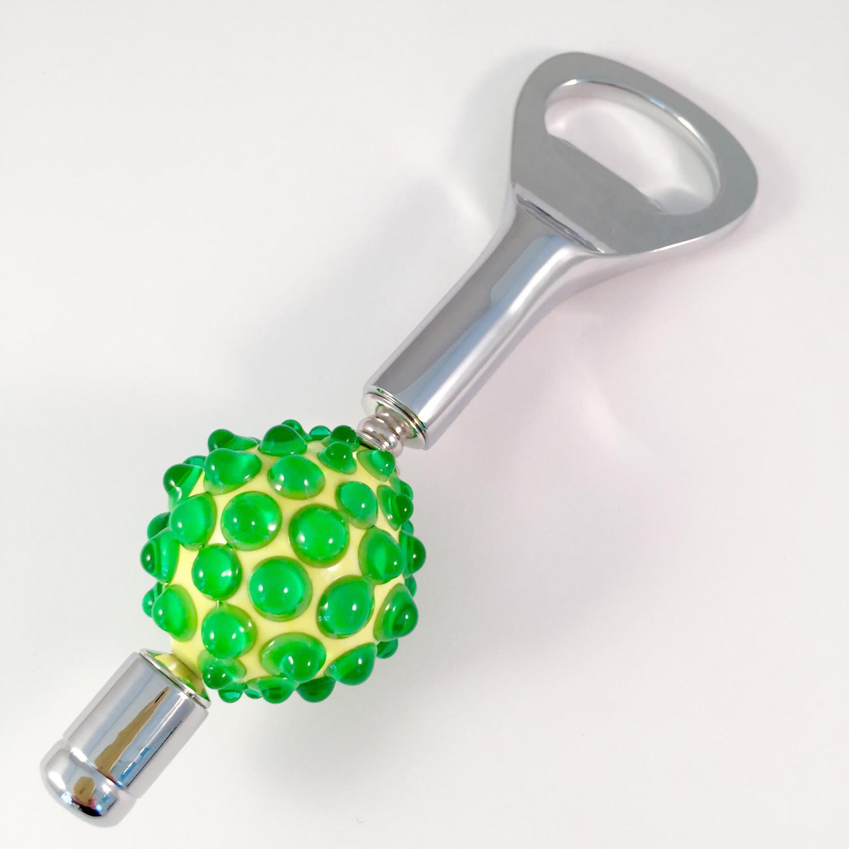 Green bumpy bottle opener