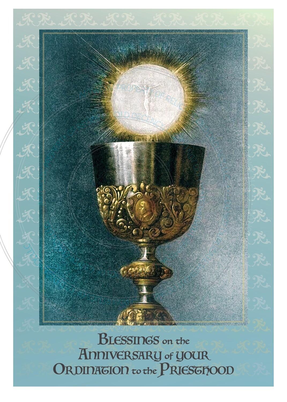 Ordination Anniversary Card ~ Eucharist